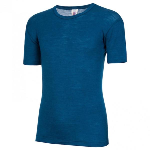 Engel – T-shirt I økologisk Uld/silke, Light Ocean