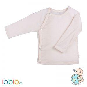 Iobio – Bluse Med Kimonolukning I økologisk Uld/silke