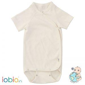 Iobio – Body Med Korte ærmer Og Kimonolukning I økologisk Uld/silke