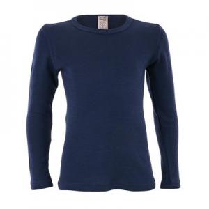 Living Crafts – Bluse I økologisk Uld/silke, Navy