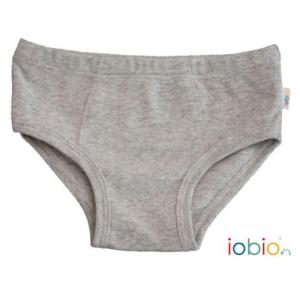 Iobio – Underbukser I økologisk Bomuld, Grå