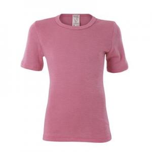 Living Crafts – T-shirt I økologisk Uld/silke, Rosa