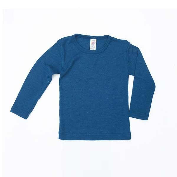 eb59e359 Engel - Bluse i økologisk uld/silke, light ocean • Økoyngel.dk