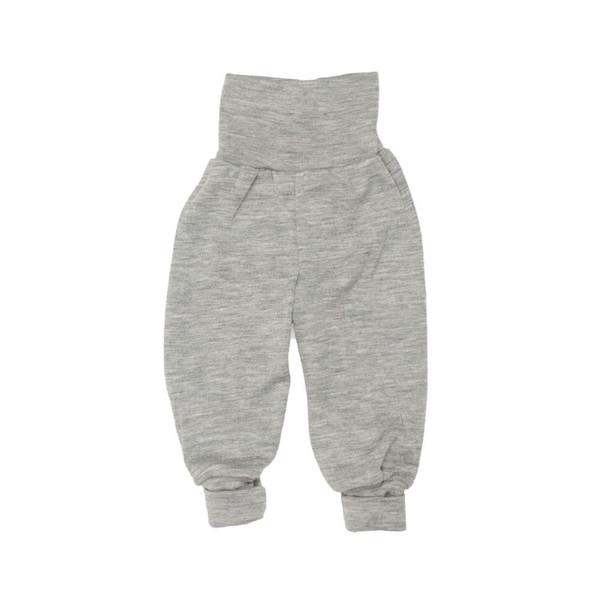 a1f4ecdb Engel - Bukser med høj talje i økologisk uld/silke, grå • Økoyngel.dk
