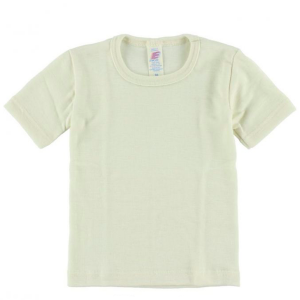 Engel – T-shirt I økologisk Uld/silke, Natur