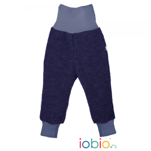 Iobio – Bukser I økologisk Kogt Uld, Navy