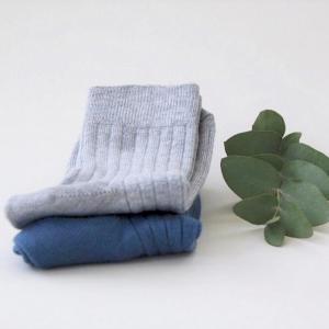 SNORK – Strømper I økologisk Bomuld, Dusty Blue/grey Melange