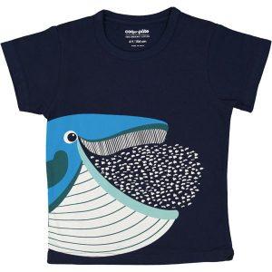 Coq En Pâte – T-shirt I økologisk Bomuld, Blåhval