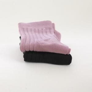 SNORK – Strømper I økologisk Bomuld, Vintage Pink/black