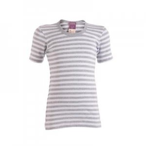 Living Crafts – T-shirt I økologisk Bomuld, Grå/hvid