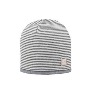 Pure Pure By Bauer – Beanie I økologisk Uld/silke, Silver Grey