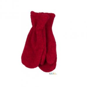 Iobio – Luffer I økologisk Uldfleece, Rød