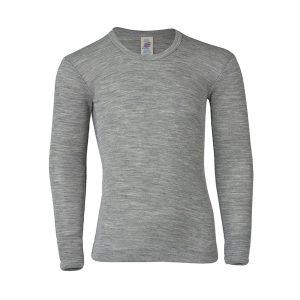 Engel – Bluse I økologisk Uld/silke, Grå