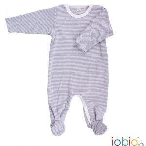 Iobio – Dragt M. Fødder I økologisk Bomuld, Grå