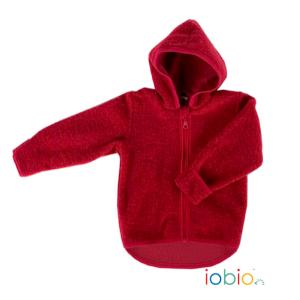 Iobio – Jakke I økologisk Uldfleece, Rød
