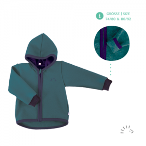 Iobio – Jakke I økologisk Kogt Uld, Smaragd
