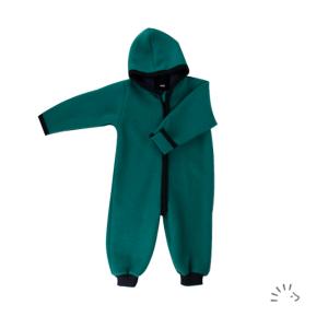 Iobio – Dragt I økologisk Kogt Uld, Smaragd