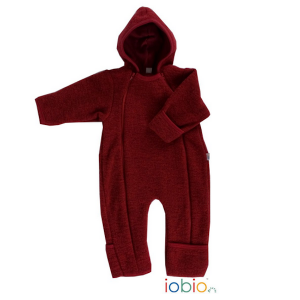Iobio – Dragt I økologisk Uldfleece, Rød