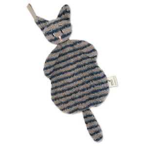 Katten Lo – Nusseklud I 100% økologisk Bomuld/uld, Grå/mørkeblå